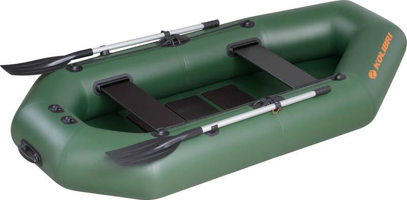 Резиновая лодка надувная двухместная гребная 260*130 см Колибри (Kolibri) К-260T Стандарт, фото 2