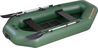 Резиновая лодка надувная двухместная гребная 260*130 см Колибри (Kolibri) К-260T Стандарт