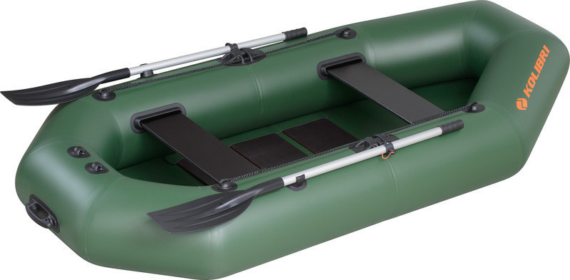 Резиновая лодка надувная двухместная гребная 260*130 см Колибри (Kolib