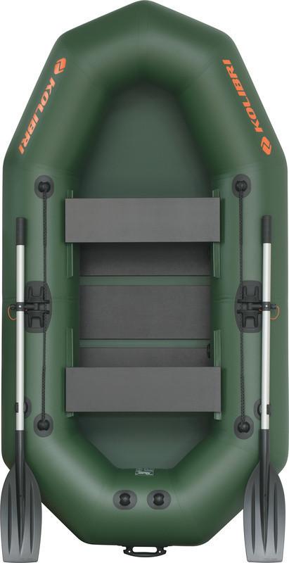 Резиновая лодка надувная двухместная гребная 248*130 см Колибри (Kolib