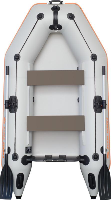 Резиновая лодка надувная моторная двухместная гребная 260*140 см Колиб
