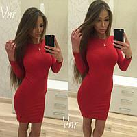 Купить платье мини облегающее  красное