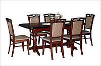 Стол деревянный раскладной для гостиной Гранд 160(+40)х90 (орех)
