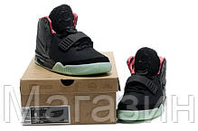 1dd42b34 Мужские высокие кроссовки Nike Air Yeezy 2 Black Green Red Найк Аир Изи  черные, фото