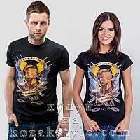 """Пара футболок """"Рабів до раю не пускають"""" (чорний колір)"""