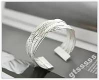 Срібний браслет плетення аксесуар подарунок