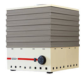 Електросушарка металева для фруктів і овочів Profit M (Профіт М) ЕСП-1 820 Вт об'ємом 35 літрів (бежева)