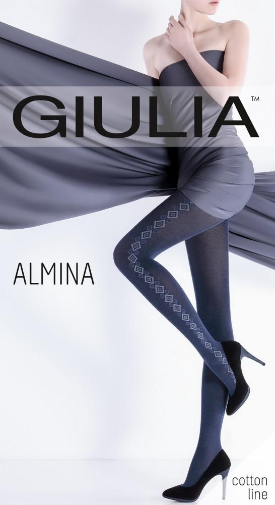 Колготки женские с узором ALMINA 200 (1)