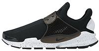 Мужские летние кроссовки Nike Sock Dart Black White Найк черные с белым