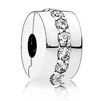 Клипса-разделитель из серебра «Сияющая тропа» Pandora, 791972CZ