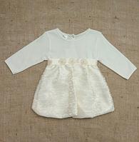 """Платье для девочки """"Фея"""" с длинным рукавом ТМ Бетис, интерлок"""