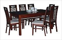 Стол из бука кухонный Модерн 140(+40)х80х75 (орех)