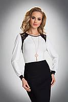 Женская нарядная блуза с гипюром цвета экри. Модель Hilary Eldar.
