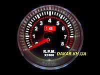 Тюнинговый автомобильный прибор Ket Gauge LED 7705-3 W тахометр белая подсветка, фото 1