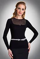 Женская блуза с сеточкой черного цвета. Модель Nila Eldar.