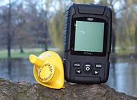 Беспроводной эхолот Lucky fish finder 718: 2 датчика, аккумулятор CR-2032, глубина 40 и 100 м