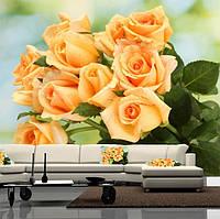 """Фото обои """"Букет роз"""", Фактурная текстура (холст, иней, декоративная штукатурка)"""