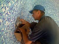 Отделка бассейна укладка мозаики - 17$/м2