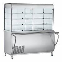 Прилавок-витрина холодильный  Abat ПВВ(Н)-70М-С-НШ