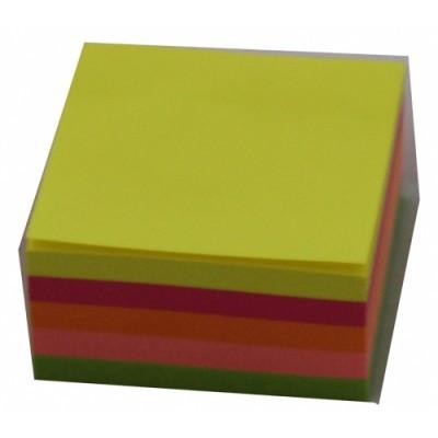 "Бумага для заметок ""спираль"" неон 80*80 5 цветов"