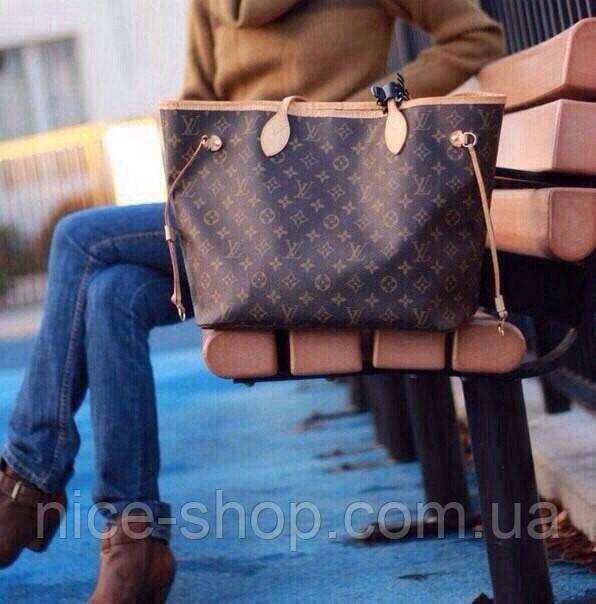 Сумка Louis Vuitton Neverfull Меdium монограмм классическая