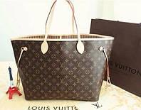 Сумка Louis Vuitton Neverfull Меdium кожа, монограмм классика, фото 1