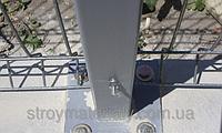 Столб оцинкованный на анкерное крепление 58х38х1.5мм 1.6м