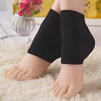 Носочки капроновые с увлажнением пятки (черные)