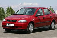 Лобовое стекло Opel Astra G (1998-2008) голубая полоса