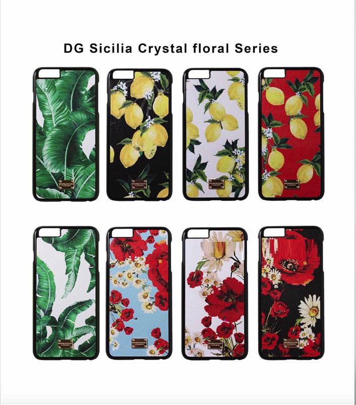 """Iphone 7 / 7 PLUS кожаный чехол панель накладка НАТУРАЛЬНАЯ КОЖА лимоны, розы, листья  Dolce & Gabbana """""""