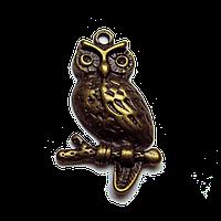Подвеска-кулон Сова, античная бронза