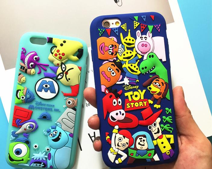 """Iphone 7 / 7 PLUS оригинальный чехол панель бампер накладка TPU объемный 3D для телефона """" Disney Store """""""