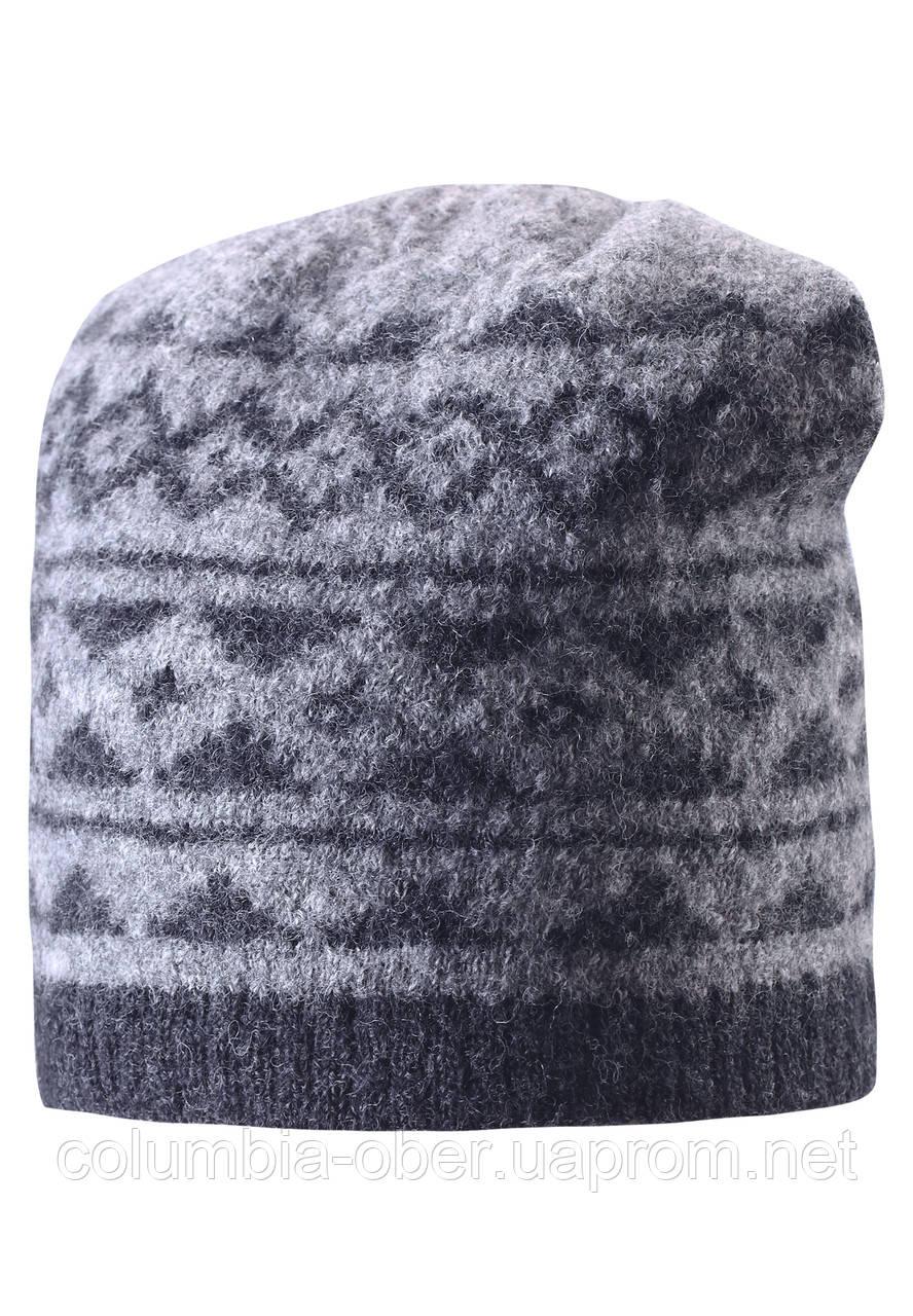 Шерстяная шапка для мальчика Reima 528487-9400. Размер 54 и 56.