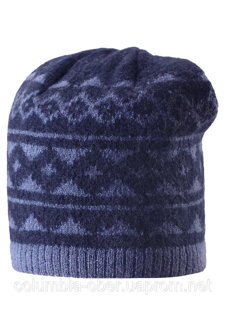Вязанная шапка для мальчика Reima 528487-6980. Размер  52-56.