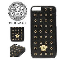 """Iphone 6/6s 4.7 оригинальный кожаный чехол панель бампер накладка НАТУРАЛЬНАЯ КОЖА """" Versace """""""