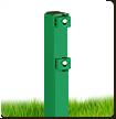 Столб в бетон 58х38х1.5мм оц+ППЛ 2.5м