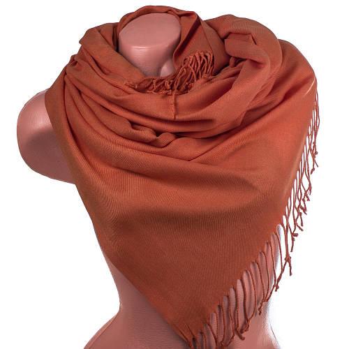 Прекрасный женский палантин из пашмины 182 на 73 см OZSOY AKSESUAR (ОЗСОЙ АКСЕСУАР) SAT12073 оранжевый