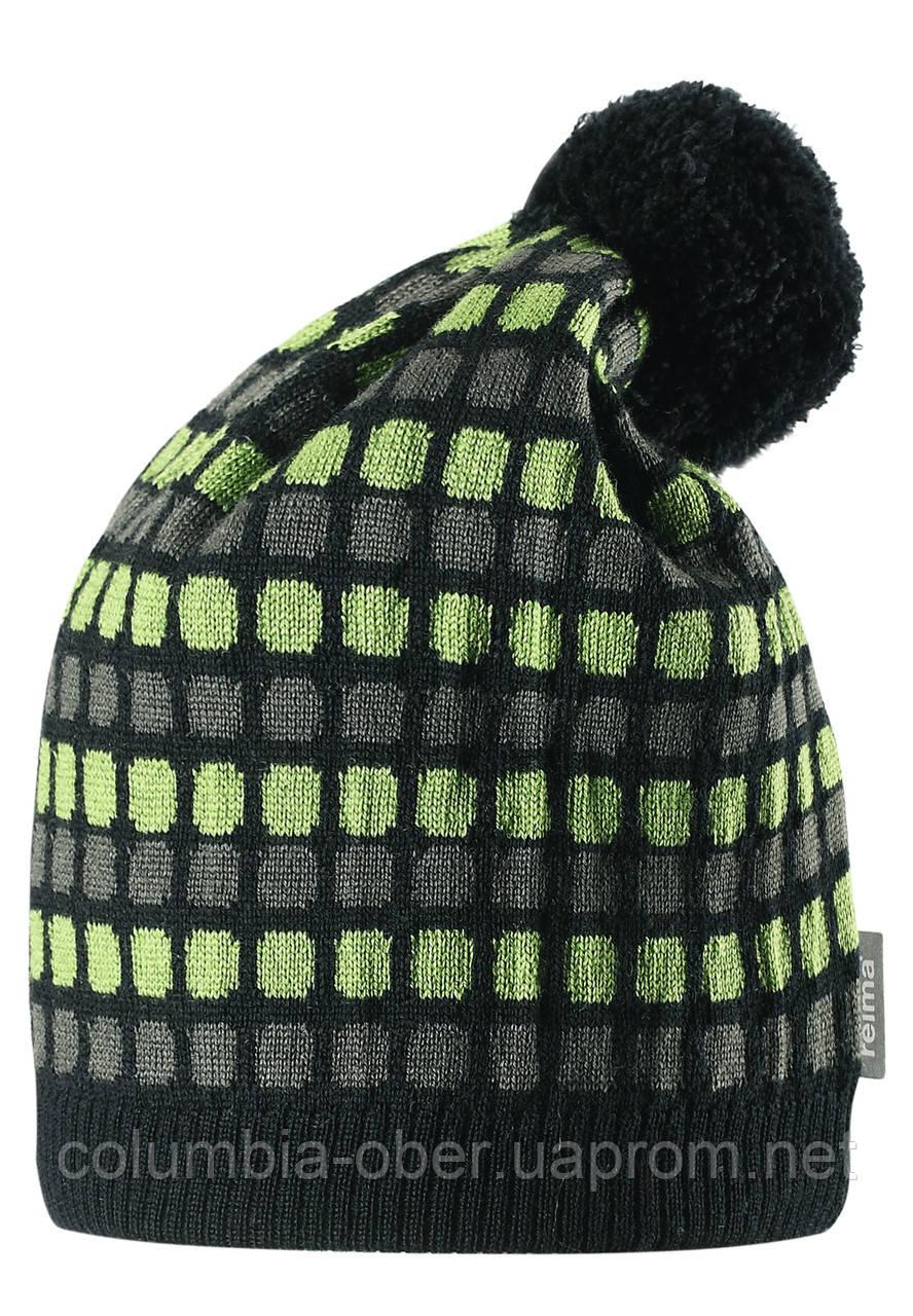 Шерстяная шапка для мальчика Reima 528489-8430. Размер 52-56.
