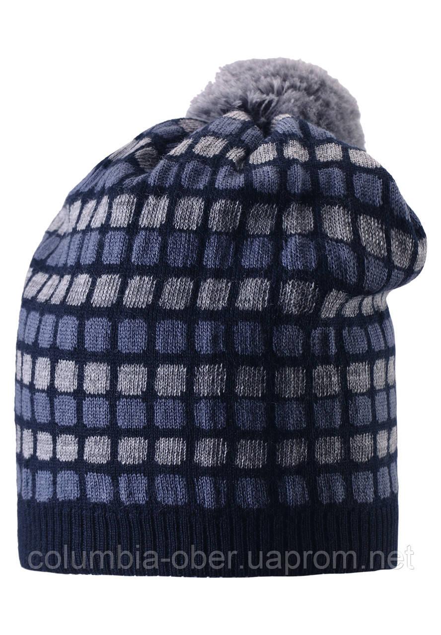 Шерстяная шапка для мальчика Reima 528489-6980. Размер  52-56.