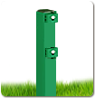 Столб в бетон 58х38х1.5мм оц+ППЛ 3.0м