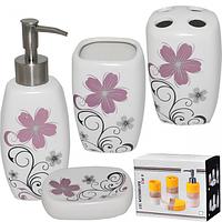Набор аксессуаров для ванной комнаты Незабудка 4пр
