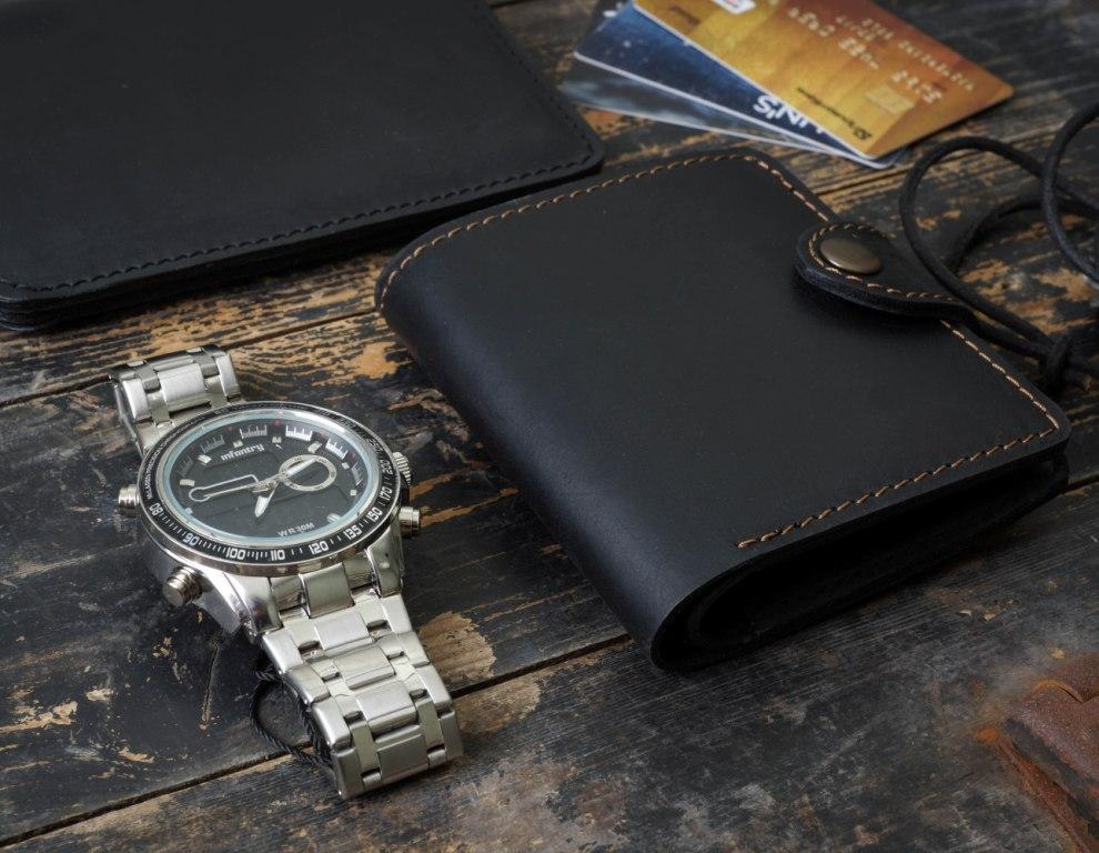 2e55c4bf2f03 Мужской кожаный кошелек mod.Turtle . Отличное качество. Деловой стиль.  Ручная работа. Практичный. Код: КДН707