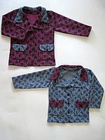 Акция 1+1. Пиджак теплый для девочки 994, трикотажный драп, р.р.30-38