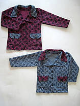 Акція 1+1. Теплий піджак для дівчинки 994 з трикотажного драпу, р. р. 30-38