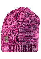 Вязанная зимняя шапка для девочки Reima 528490-4620. Размер 52-56.