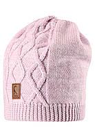 Вязанная зимняя шапка для девочки Reima 528490-5000. Размер 52-56.