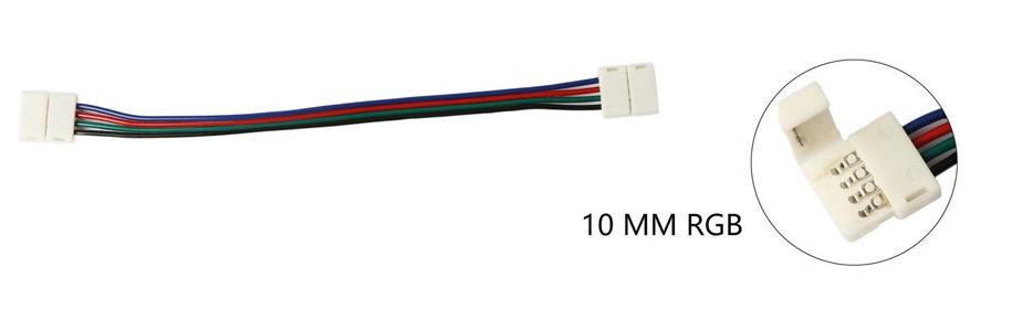 Коннектор 4-pin 10 мм для LED-ленты RGB c 2-мя соединениями