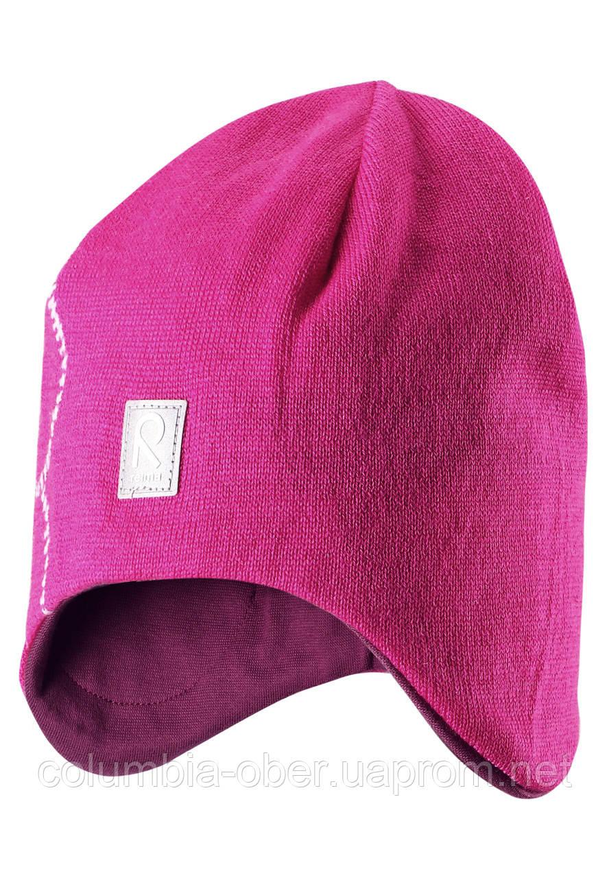 Шерстяная зимняя шапка для девочки Reima 528492-4620. Размеры 52 - 56.