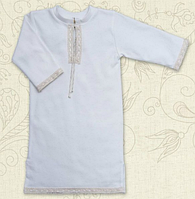 """Сорочка для крещения """"Крістіан"""" длинный рукав ТМ Бетис, интерлок"""