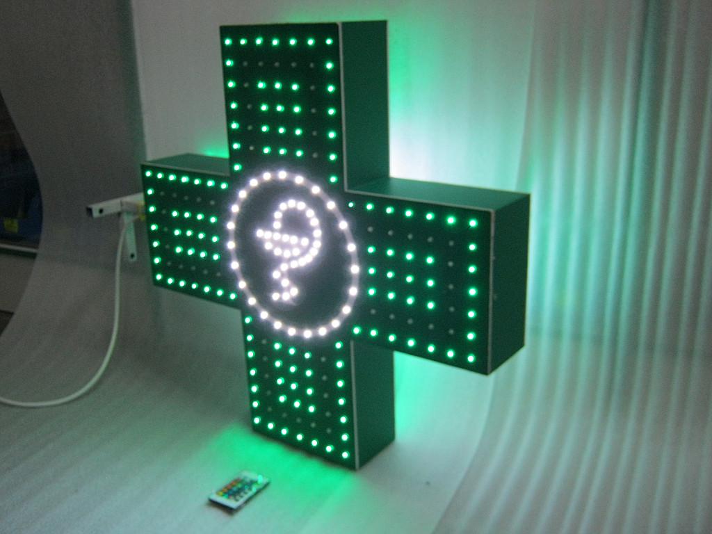 Изготовление светодиодного  аптечного креста.